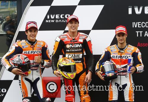 Marc Marquez, 41 Aleix Espargaro and Dani Pedrosa