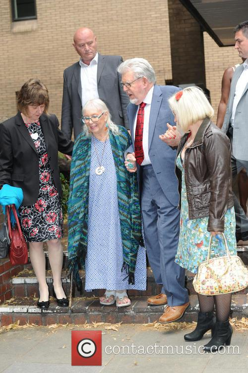 Rolf Harris leaving Southwark Crown