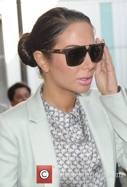 Tulisa Contostavlos leaving Southwark Crown Court
