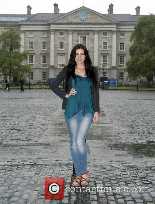 Miss Kilkenny 2014 Sarah Jane Dunne poses at...