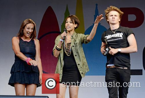Sam Strike, Luisa Bradshaw-white and Rebecca Scroggs