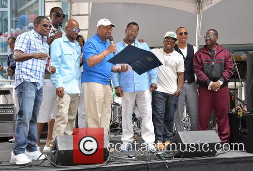 MICHAEL NUTTER, RICKY BELL, RALPH TRESVANT, BOBBY BROWN, MICHAEL BIVENS, RONNIE DEVOE and JOHNNY GILL 3