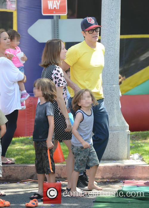 Johnny Knoxville takes his family to the Farmers...