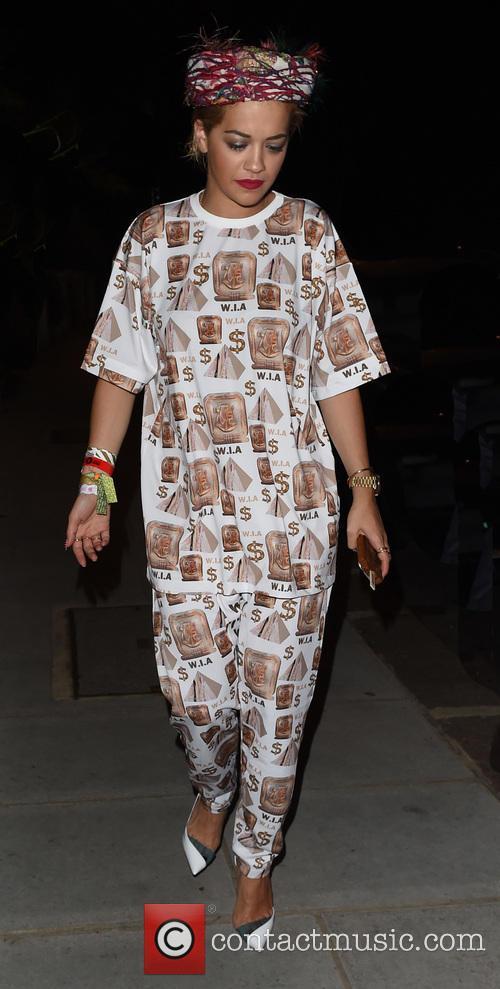 Rita Ora arrives at a London recording studio