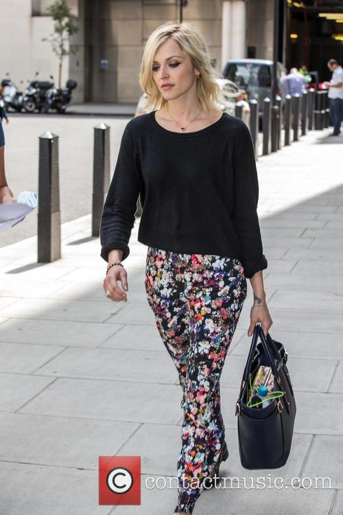Fearne Cotton outside BBC Radio 1