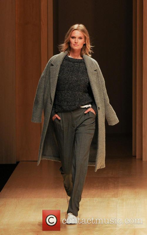 Model Toni Garrn walks during Mango's fashion show at Barcelona Fashion Week 2014