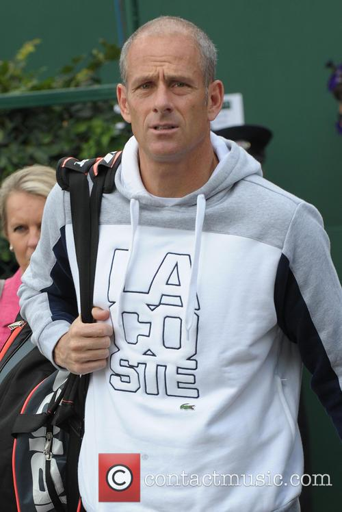 guy forget celebrities arriving at wimbledon 4266356