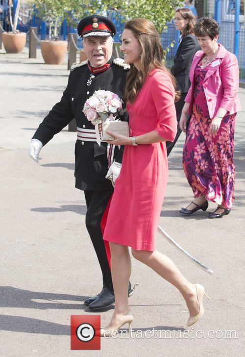 Catherine, Duchess of Cambridge visits Blessed Sacrament R...