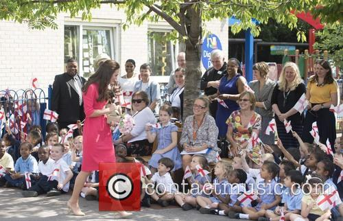 Catherine, Duchess of Cambridge visits Blessed Sacrament R...