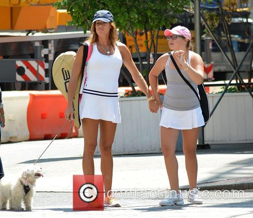 Kelly Killoren Bensimon and daughter Sea dressed for...