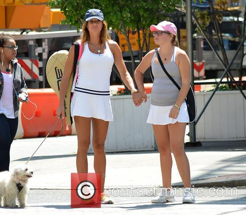 Kelly Killoren Bensimon and daughter Sea dressed for...