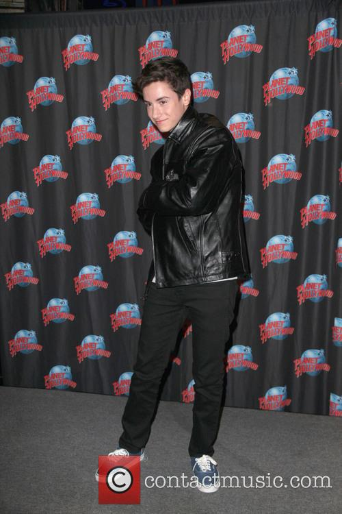 Teo Halm Visits Planet Hollywood Times Square
