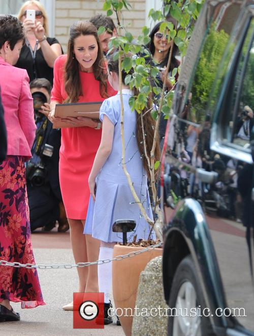 Duchess of Cambridge at Blessed Sacrament School