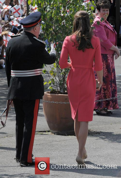 Kate Middleton visits Blessed Sacrament R C Primary...