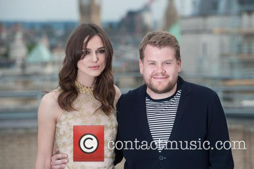 Keira Knightley and James Corden 4