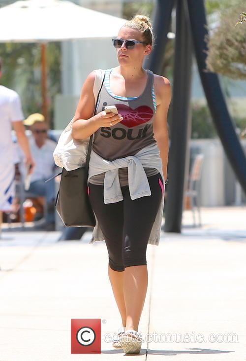 Busy Philipps seen leaving Soul Cycle.