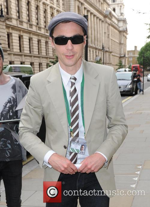 Jim Parsons arrivies at his London hotel for the 2014 Wimbledon Championships