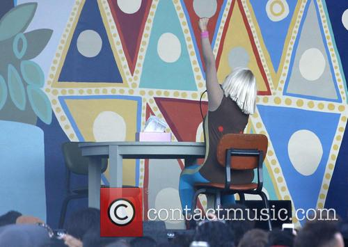 Sia performing on the Jimmy Kimmel Live!
