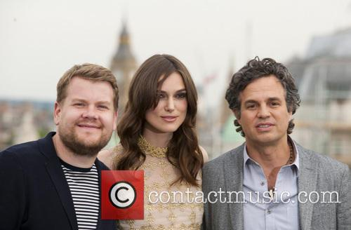James Corden, Keira Knightley and Mark Ruffalo 2