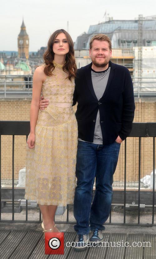 Keira Knightley, James Corden, Rooftop of Picturehouse Cinemas