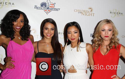 Neferteri Shepher, Raquel Pomplun, Hiromi Oshima and Nikki Leigh Playmate Dancers 1