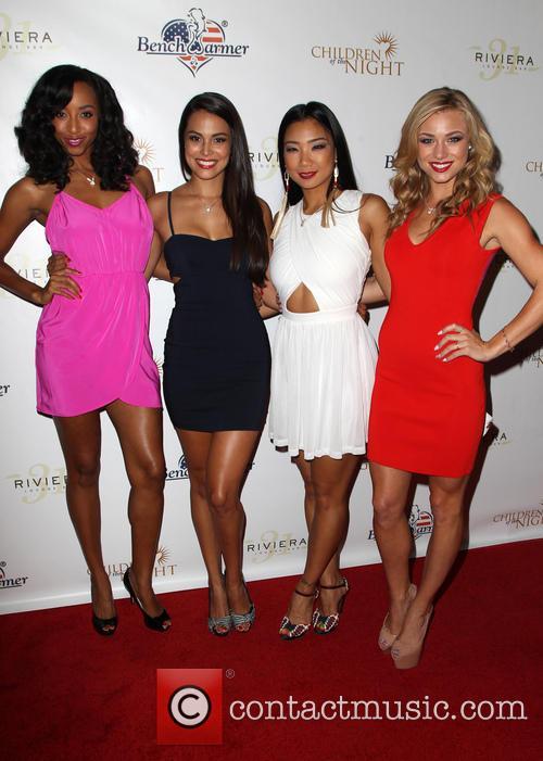 Neferteri Shepher, Raquel Pomplun, Hiromi Oshima and Nikki Leigh Playmate Dancers 2