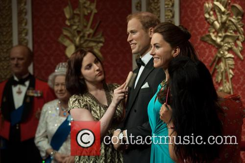 Duke and Duchess of Cambridge at Tussauds