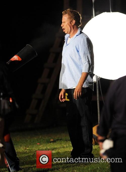Will Ferrell filming scenes for 'Get Hard'
