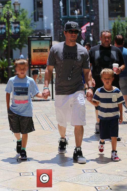 Mark Wahlberg takes his sons to the movies
