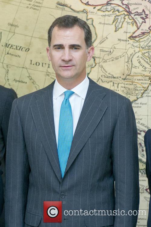 King Felipe VI of Spain At National Library