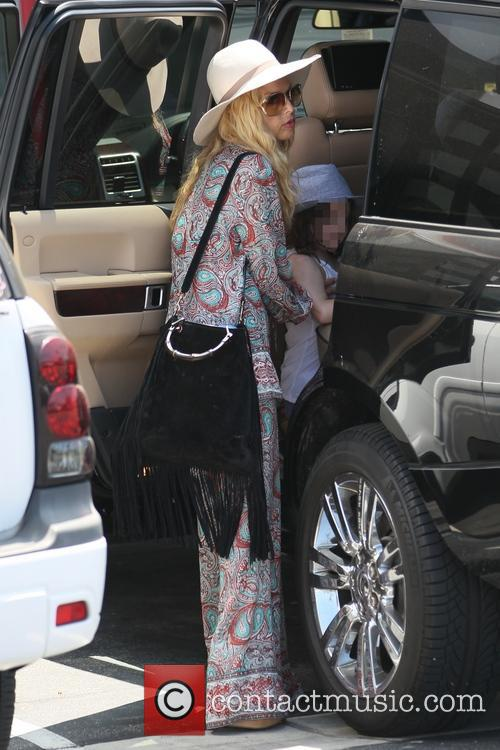 Rachel Zoe and son Skyler out together for...