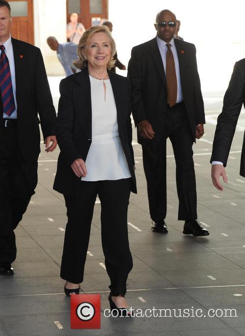 Hillary Clinton at the BBC Radio studios