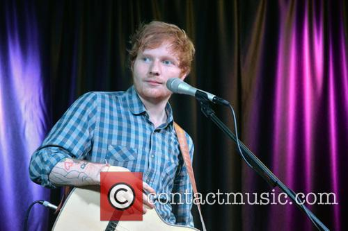 Ed Sheeran performs for Q102 Philly