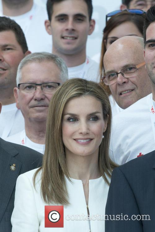 Queen Letizia of Spain attends the Red Cross...