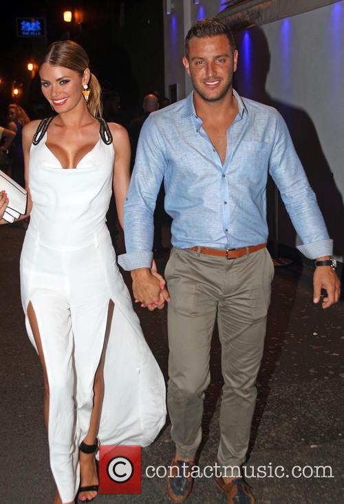 Chloe Sims and boyfriend Elliott Wright arrive at...