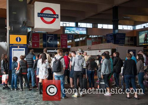Fire alert at Euston station, London