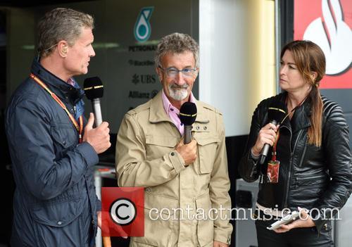 David Coulthard, Eddie Jordan and Suzi Perry