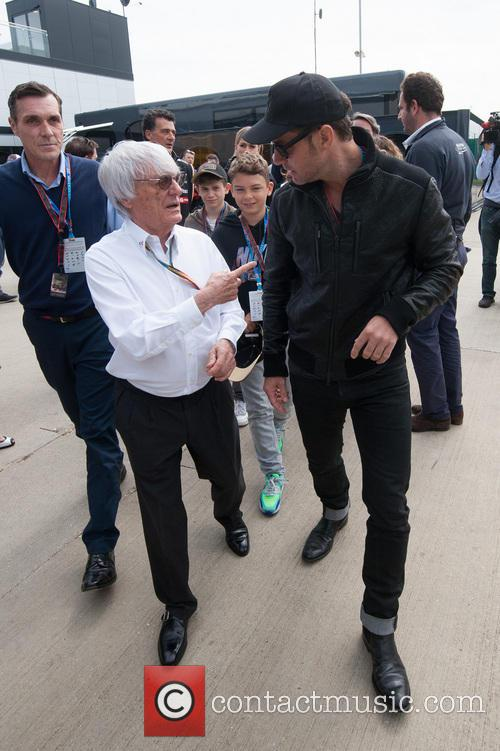 Bernie Ecclestone and Jude Law 1