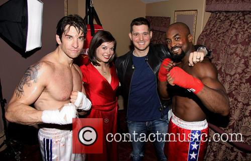 Andy Karl, Margo Seibert, Michael Buble and Terence Archie 4