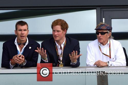 Prince Harry and Sir Jackie Stewart 9