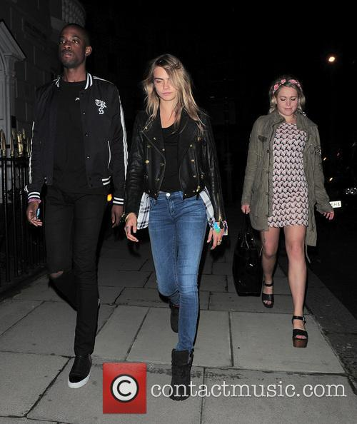 Cara out and about with friends