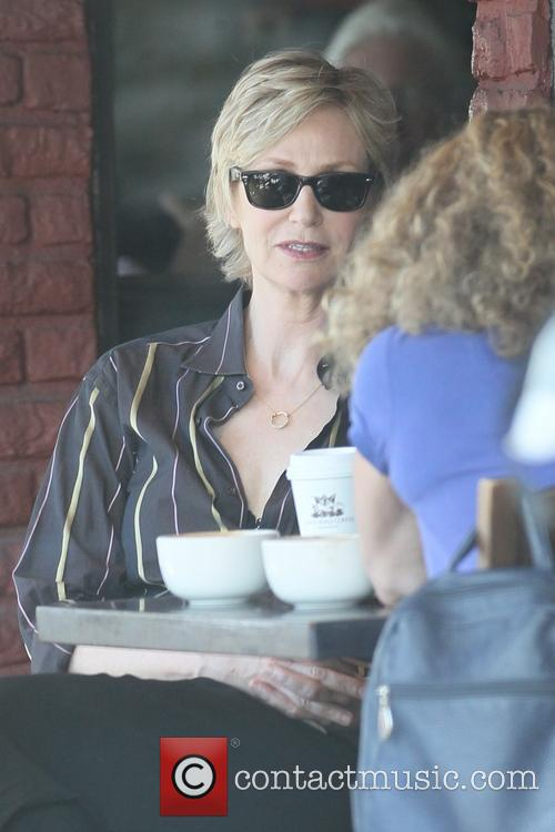 Jane Lynch has breakfast in West Hollywood