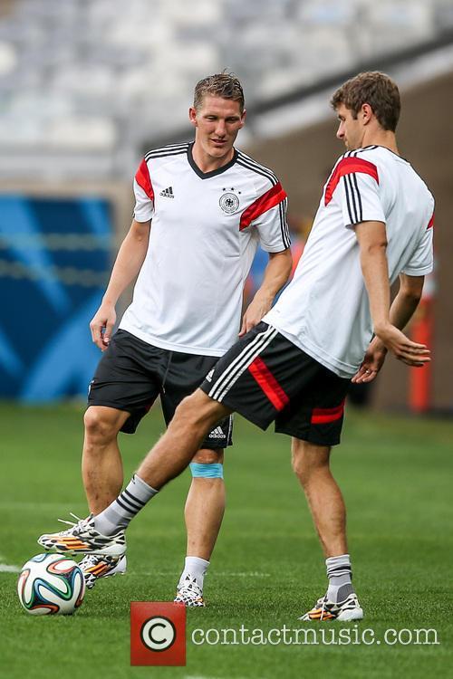 2014 FIFA World Cup - German team training...
