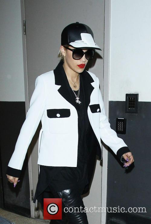 Rita Ora arriving at Los Angeles International Airport...