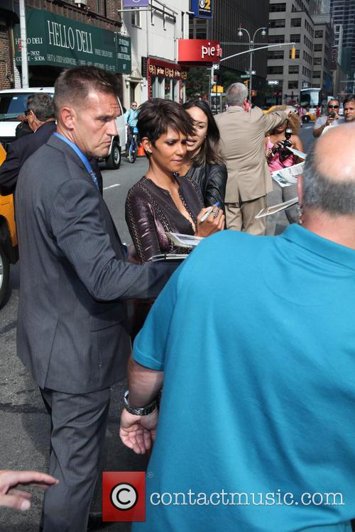 Halle Berry leaves the Late Show with David Letterman