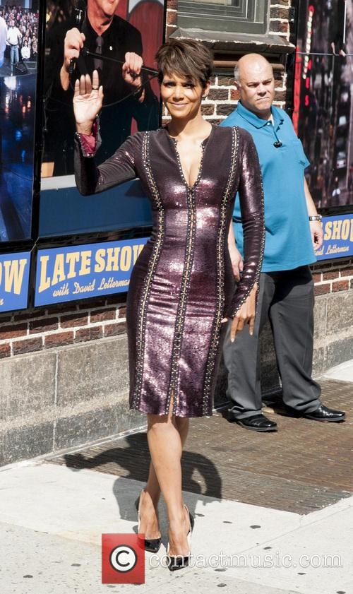 Halle Berry at the Late Show with David Letterman