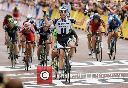 Marcel Kittel (GER), Team GIANT Shimano, crosses the...