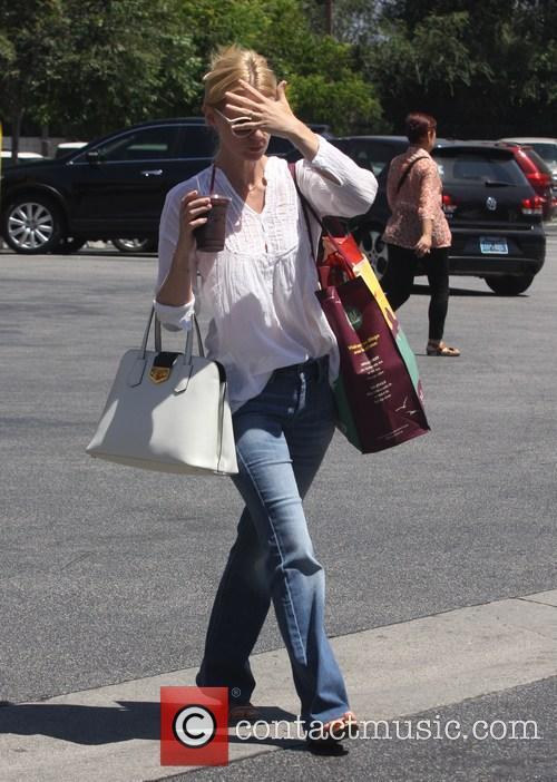 January Jones goes grocery shopping at Whole Foods Market