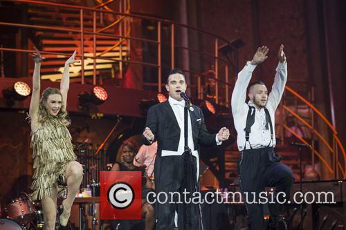 Robbie Williams performs live at The O2
