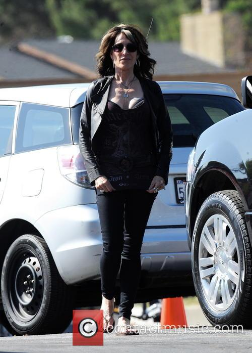 Courtney Love filming 'Sons Of Anarchy'